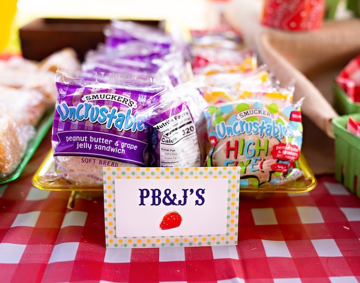 PB & J's from a County Fair Inspired Farm Birthday Party on Kara's Party Ideas | KarasPartyIdeas.com (29)