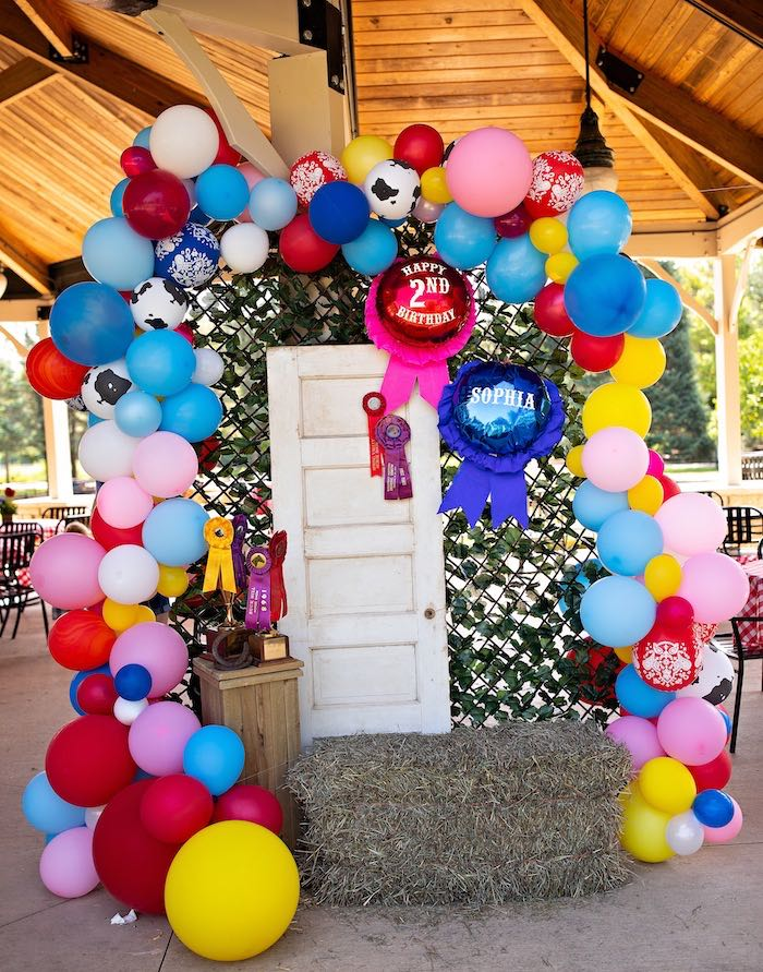 Farm + County Fair Themed Photo Booth from a County Fair Inspired Farm Birthday Party on Kara's Party Ideas | KarasPartyIdeas.com (28)