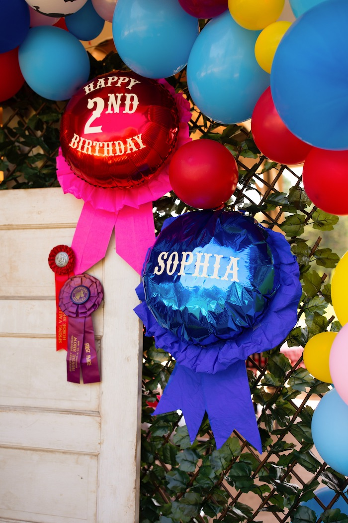 County Fair Themed Balloon Ribbons from a County Fair Inspired Farm Birthday Party on Kara's Party Ideas | KarasPartyIdeas.com (26)
