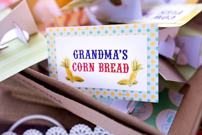Grandma's Corn Bread from a County Fair Inspired Farm Birthday Party on Kara's Party Ideas | KarasPartyIdeas.com (42)
