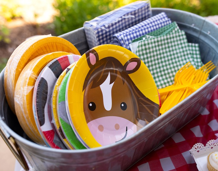 Farm Animal Plates from a County Fair Inspired Farm Birthday Party on Kara's Party Ideas | KarasPartyIdeas.com (13)