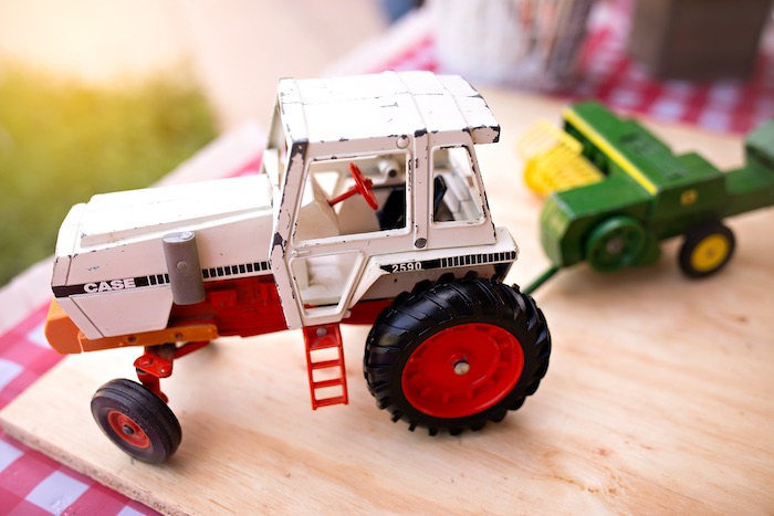 Tractor Toy Decoration from a County Fair Inspired Farm Birthday Party on Kara's Party Ideas | KarasPartyIdeas.com (41)