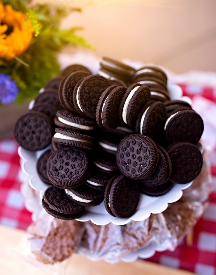 "Tractor Tires ""Oreos"" from a County Fair Inspired Farm Birthday Party on Kara's Party Ideas 
