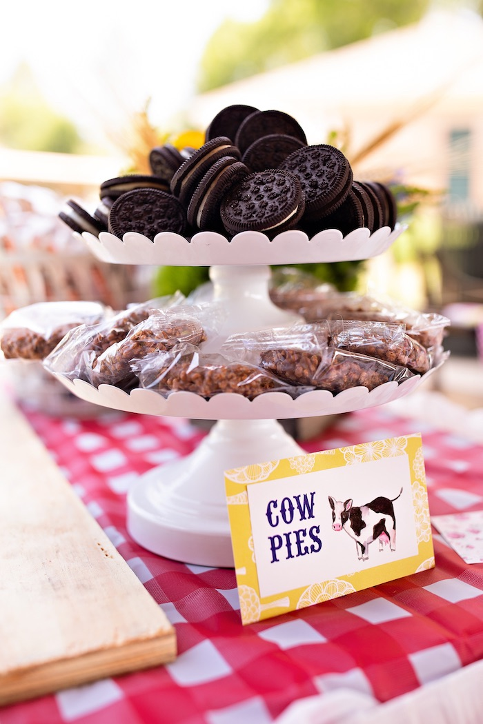 Sweet Pedestal (Cow Pies + Tractor Tires) from a County Fair Inspired Farm Birthday Party on Kara's Party Ideas | KarasPartyIdeas.com (38)