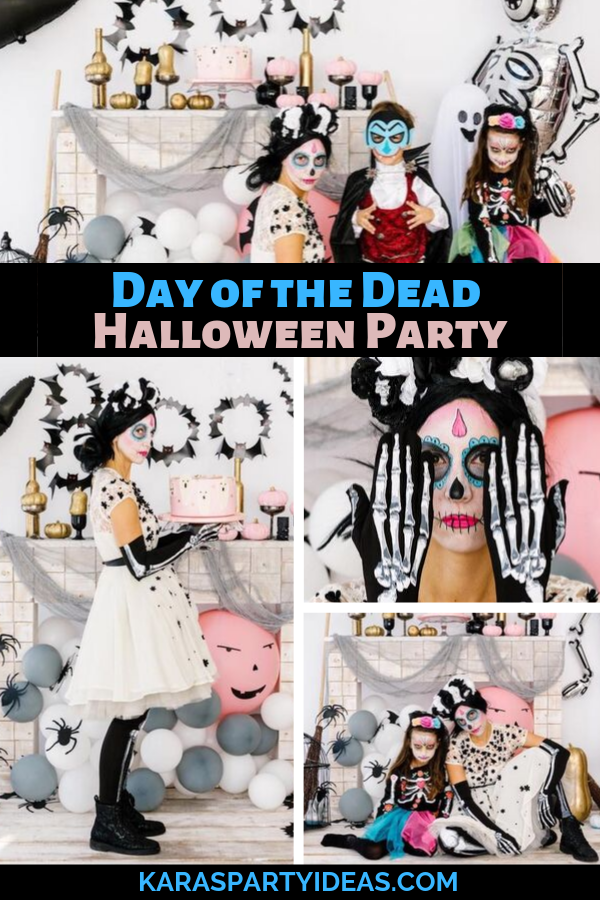 Day of the Dead Halloween Party via Kara's Party Ideas - KarasPartyIdeas.com
