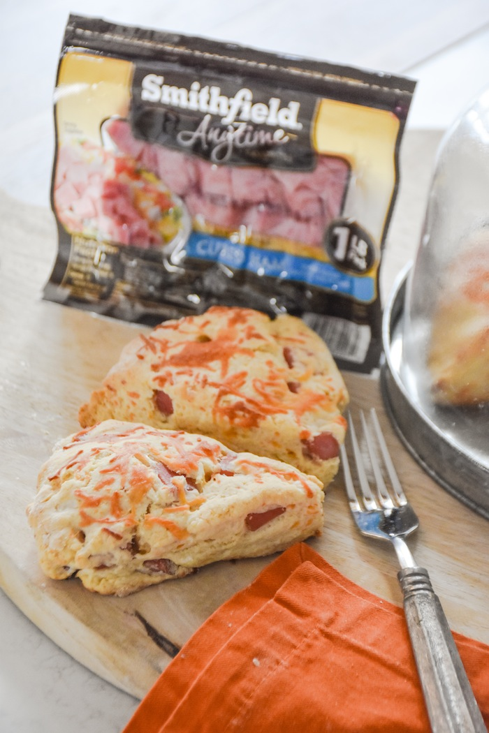 Easy Ham and Cheese Scones Fall Recipe with Smithfield Cubed Ham by Kara's Party Ideas -21