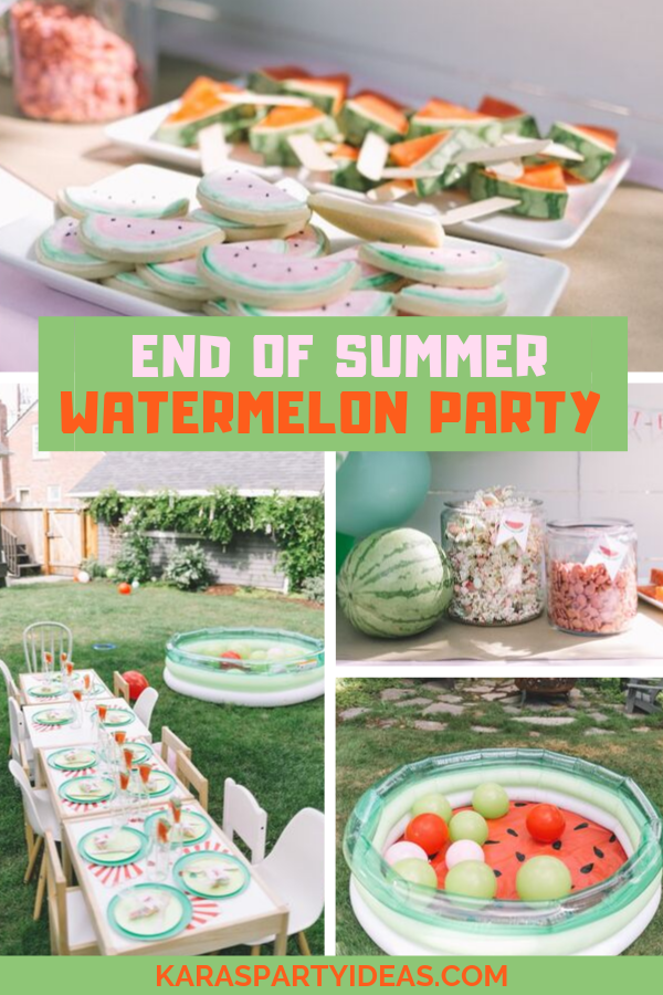 End of Summer Watermelon Party via Kara's Party Ideas - KarasPartyIdeas.com