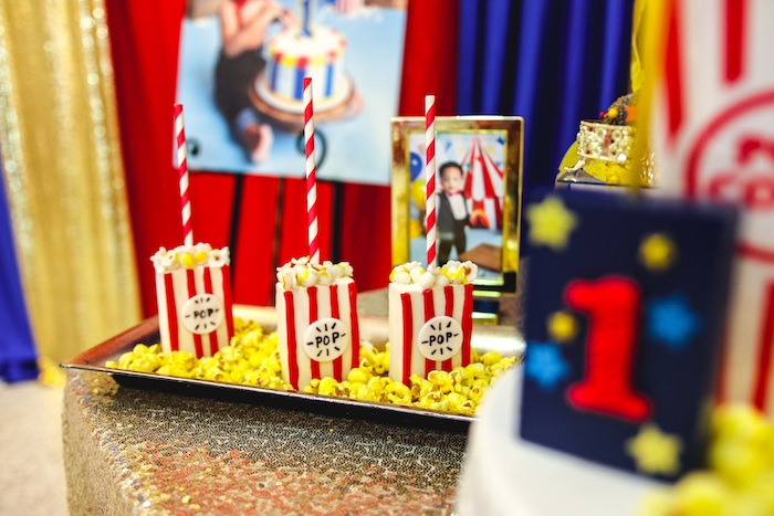 Popcorn Pops from a First Birthday Carnival Party on Kara's Party Ideas | KarasPartyIdeas.com (17)