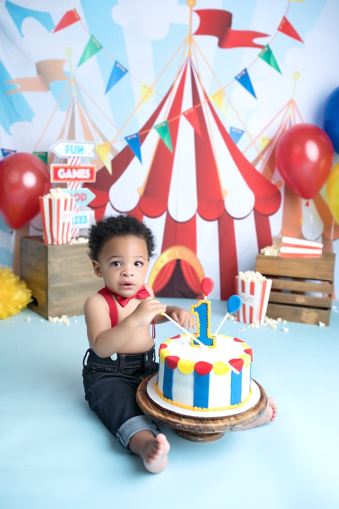 Magnificent Karas Party Ideas First Birthday Carnival Party Karas Party Ideas Personalised Birthday Cards Paralily Jamesorg
