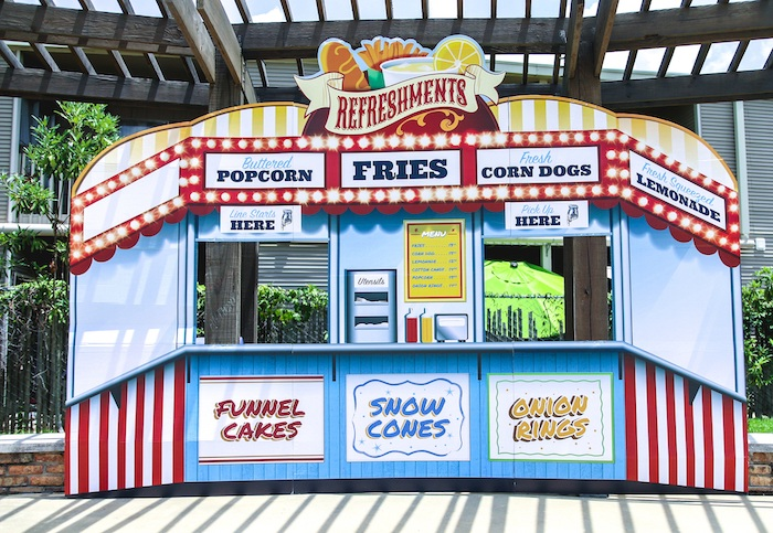 Refreshment Stand + Booth + Backdrop from a First Birthday Carnival Party on Kara's Party Ideas | KarasPartyIdeas.com (23)