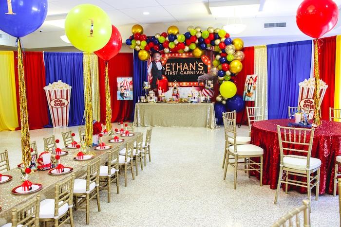 First Birthday Carnival Party on Kara's Party Ideas | KarasPartyIdeas.com (21)