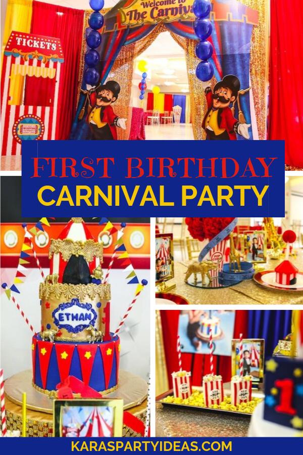 First Birthday Carnival Party via Kara's Party Ideas - KarasPartyIdeas.com