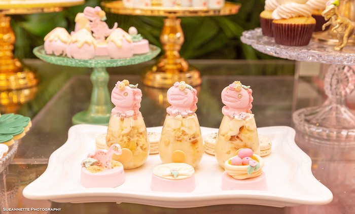 Dinosaur Dessert Cups + Oreos from a Girly Dino Soiree on Kara's Party Ideas | KarasPartyIdeas.com (35)