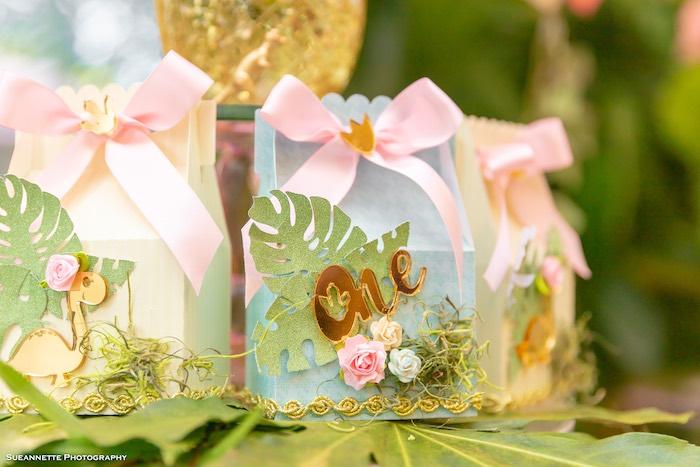 Glam Dinosaur Themed Favor Box from a Girly Dino Soiree on Kara's Party Ideas | KarasPartyIdeas.com (48)