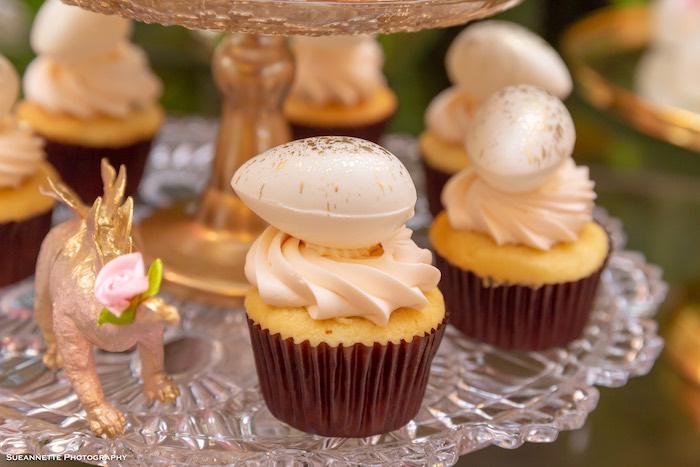 Dinosaur Egg Cupcakes from a Girly Dino Soiree on Kara's Party Ideas | KarasPartyIdeas.com (29)
