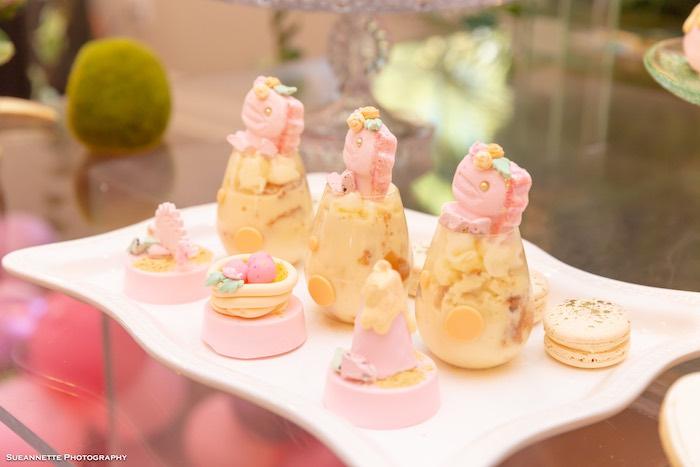 Dinosaur Dessert Cups + Oreos from a Girly Dino Soiree on Kara's Party Ideas | KarasPartyIdeas.com (27)