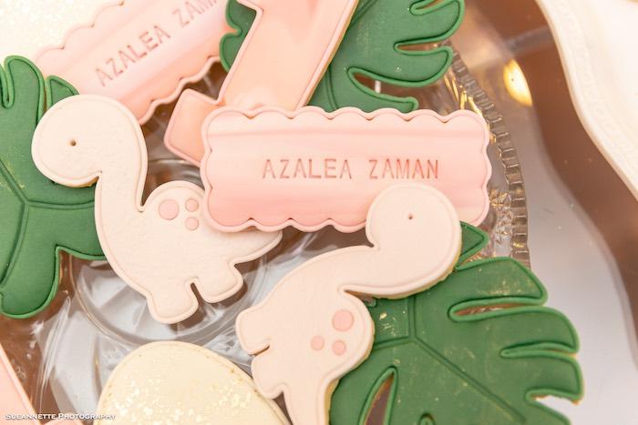 Dinosaur Themed Cookies from a Girly Dino Soiree on Kara's Party Ideas | KarasPartyIdeas.com (46)