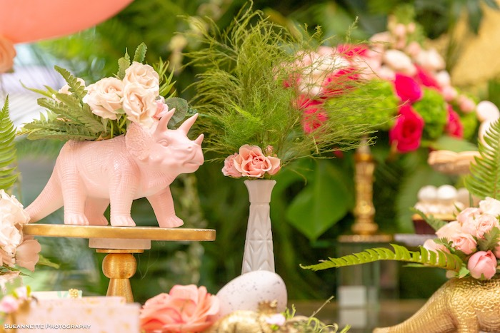 Dinosaur Blooms from a Girly Dino Soiree on Kara's Party Ideas | KarasPartyIdeas.com (9)
