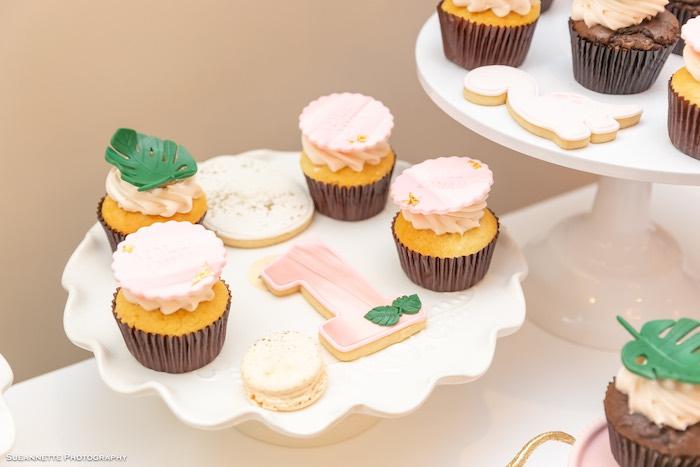 Dinosaur Themed Cupcakes + Cookies from a Girly Dino Soiree on Kara's Party Ideas | KarasPartyIdeas.com (45)