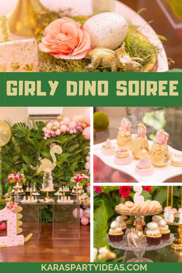 Girly Dino Soiree via Kara's Party Ideas - KarasPartyIdeas.com