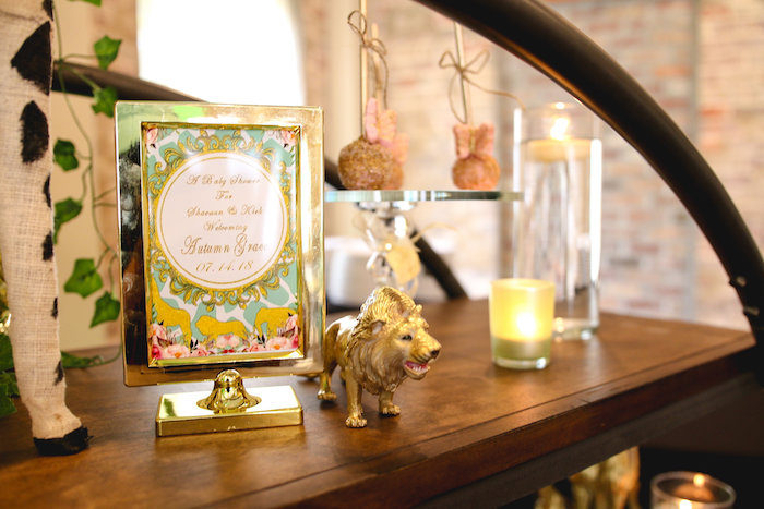 Safari Signage + Decor from a Glamorous Gold Safari Baby Shower on Kara's Party Ideas | KarasPartyIdeas.com (15)