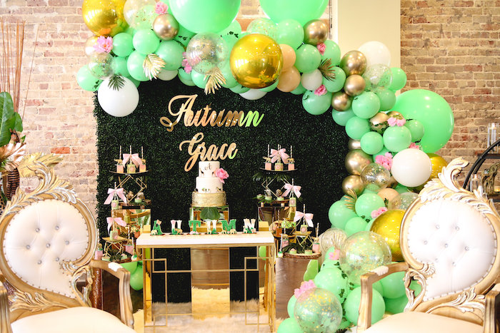 Safari Themed Dessert Table from a Glamorous Gold Safari Baby Shower on Kara's Party Ideas | KarasPartyIdeas.com (12)
