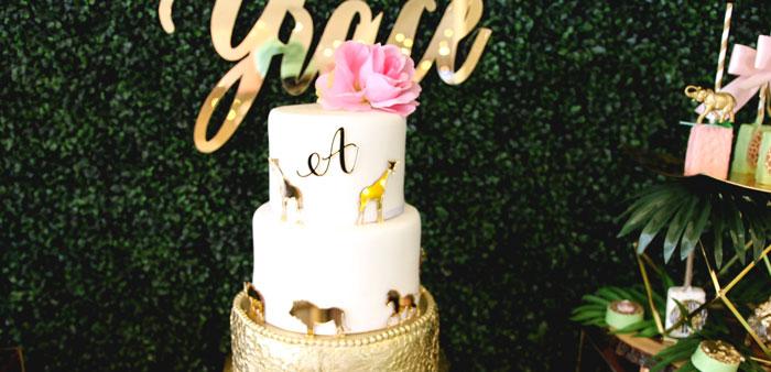 Glamorous Gold Safari Baby Shower on Kara's Party Ideas | KarasPartyIdeas.com (3)
