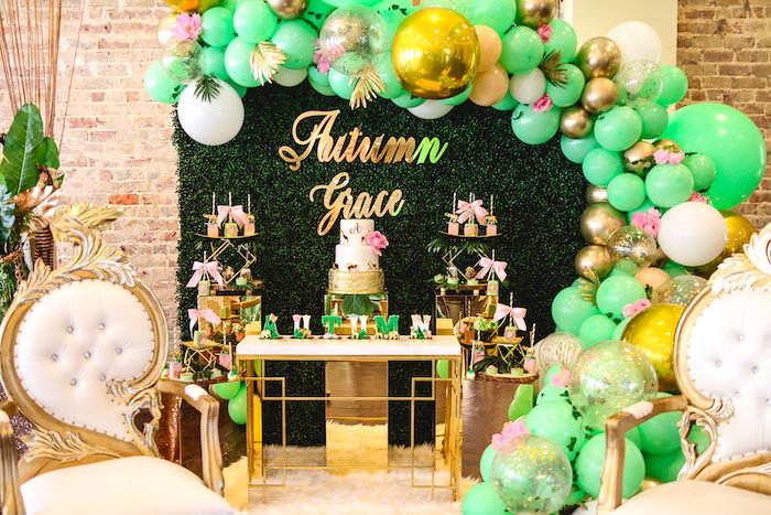 Glamorous Gold Safari Baby Shower on Kara's Party Ideas | KarasPartyIdeas.com (25)