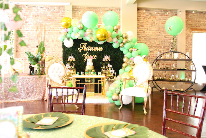 Glamorous Gold Safari Baby Shower on Kara's Party Ideas | KarasPartyIdeas.com (19)