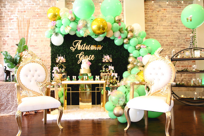 Glamorous Gold Safari Baby Shower on Kara's Party Ideas | KarasPartyIdeas.com (18)
