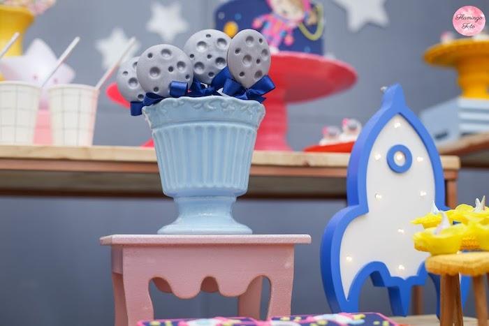 Moon Pops from a Modern Astronaut Birthday Party on Kara's Party Ideas | KarasPartyIdeas.com (13)