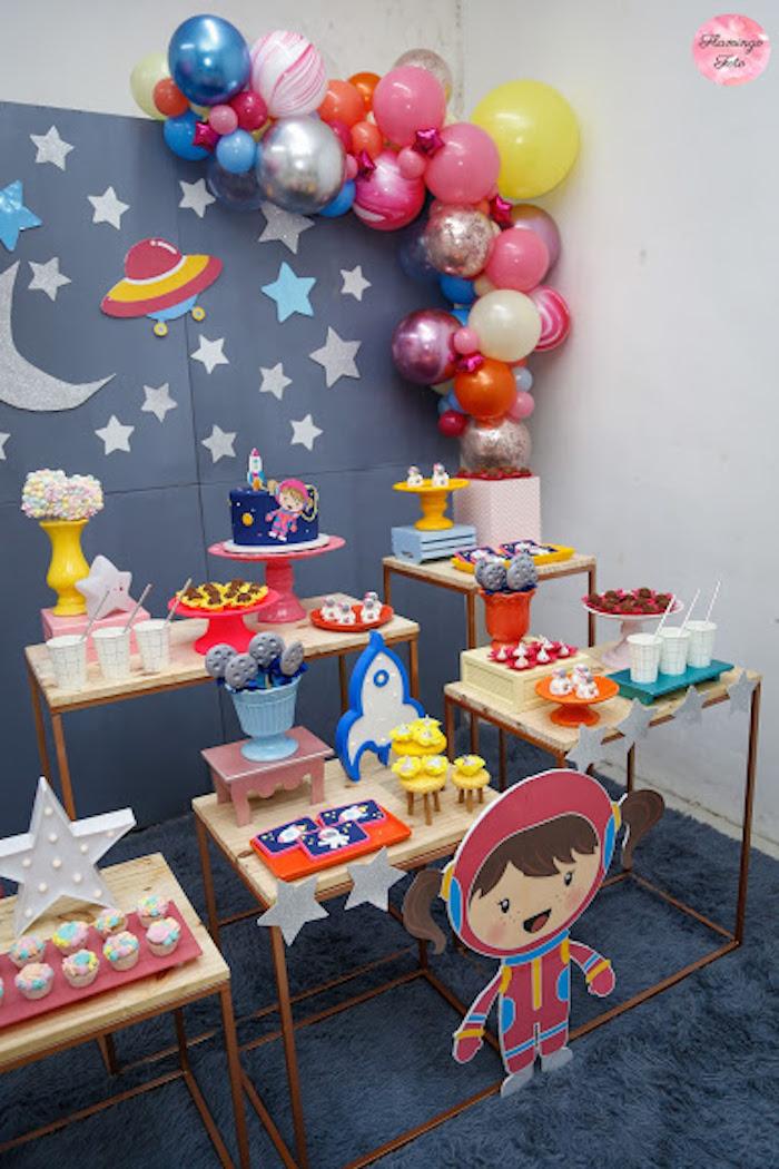 Space Themed Dessert Table from a Modern Astronaut Birthday Party on Kara's Party Ideas | KarasPartyIdeas.com (6)