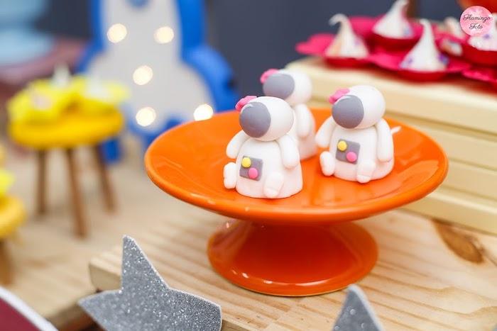 Mini Astronaut Cakes from a Modern Astronaut Birthday Party on Kara's Party Ideas | KarasPartyIdeas.com (23)