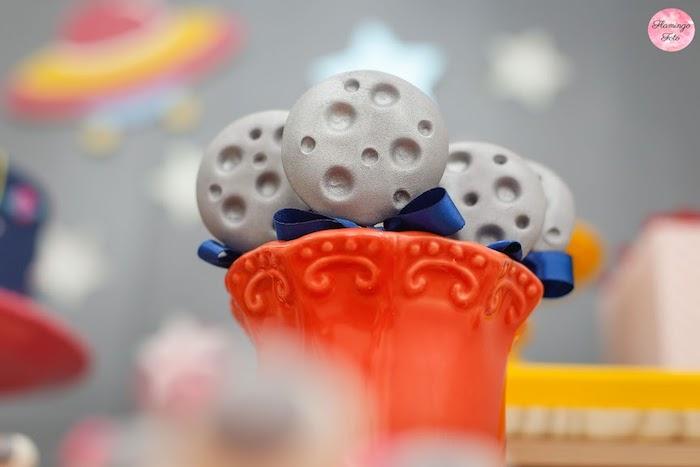 Moon Pops from a Modern Astronaut Birthday Party on Kara's Party Ideas | KarasPartyIdeas.com (21)