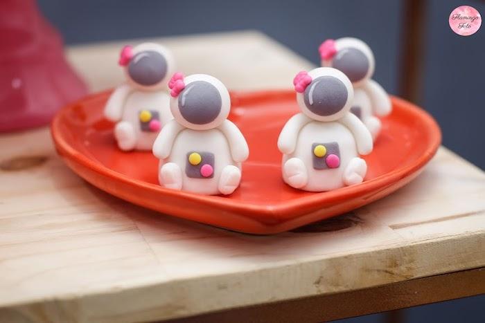 Mini Astronaut Cakes from a Modern Astronaut Birthday Party on Kara's Party Ideas | KarasPartyIdeas.com (18)