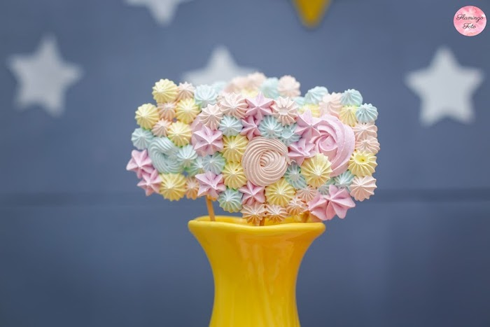 Mini Meringue Lollipops from a Modern Astronaut Birthday Party on Kara's Party Ideas | KarasPartyIdeas.com (17)