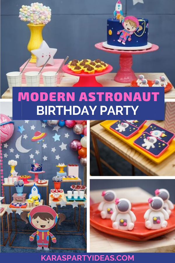 Modern Astronaut Birthday Party via Kara's Party Ideas - KarasPartyIdeas.com