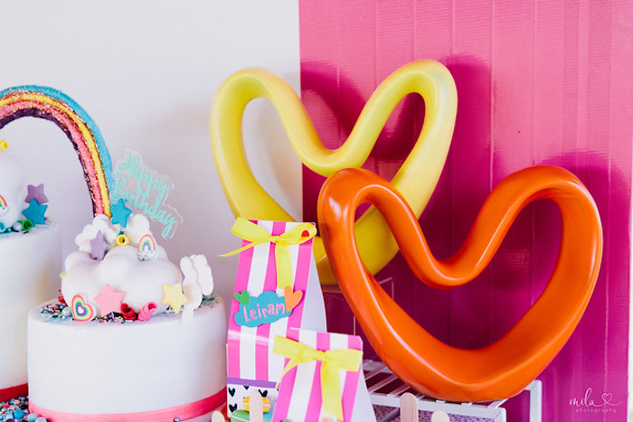 Heart Decorations from a Modern Colorful 10th Birthday Party on Kara's Party Ideas | KarasPartyIdeas.com (28)