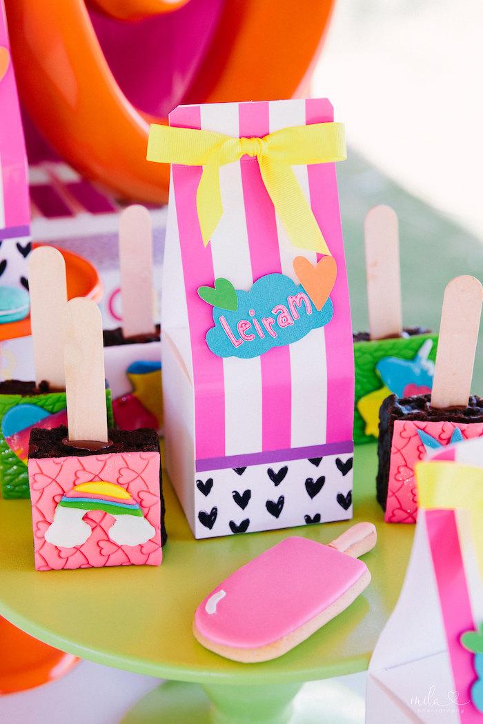 Dessert Pedestal from a Modern Colorful 10th Birthday Party on Kara's Party Ideas | KarasPartyIdeas.com (22)
