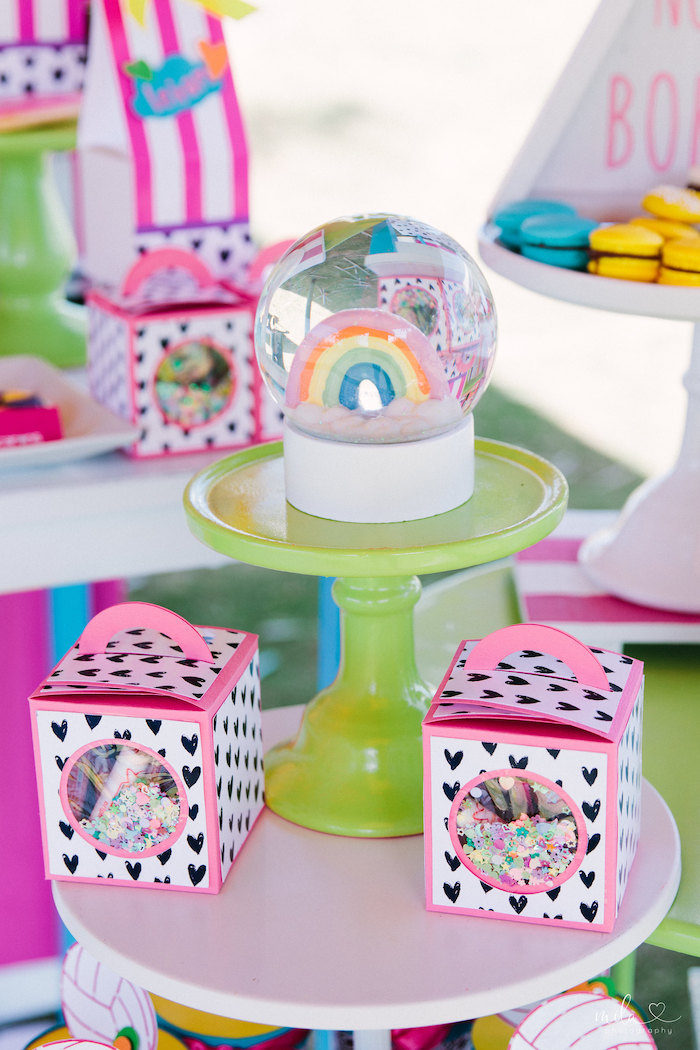 Sweet Pedestal from a Modern Colorful 10th Birthday Party on Kara's Party Ideas | KarasPartyIdeas.com (19)