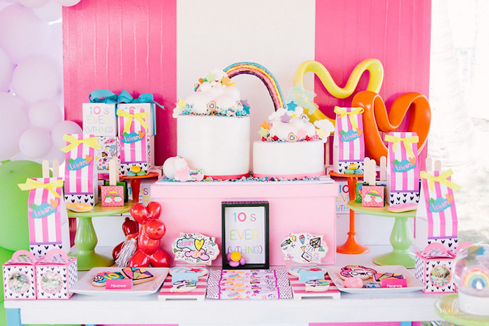 Modern Colorful 10th Birthday Party on Kara's Party Ideas | KarasPartyIdeas.com (37)