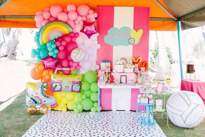 Modern Colorful 10th Birthday Party on Kara's Party Ideas | KarasPartyIdeas.com (16)