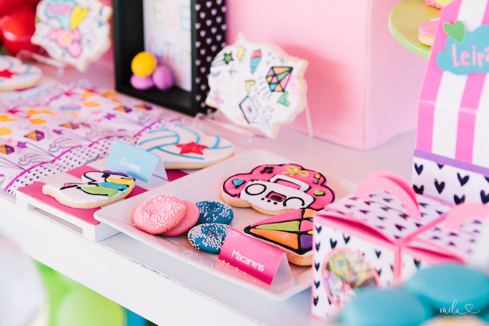 Cookies & Sweets from a Modern Colorful 10th Birthday Party on Kara's Party Ideas | KarasPartyIdeas.com (15)