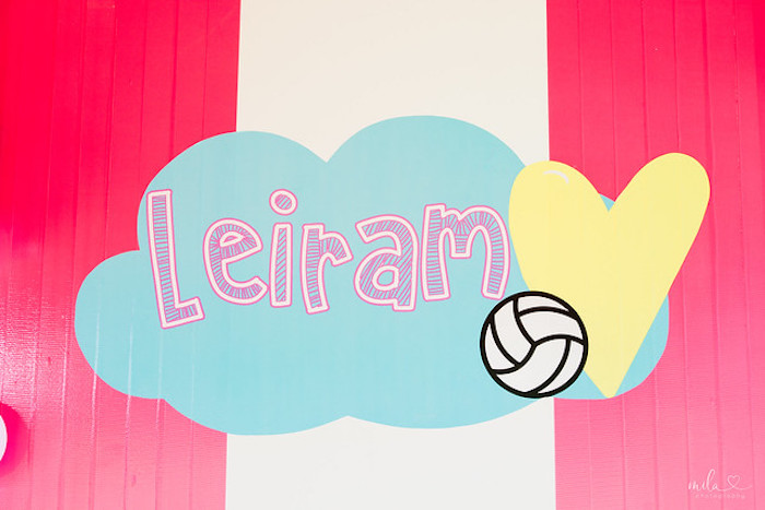 Custom Cloud Decal + Signage from a Modern Colorful 10th Birthday Party on Kara's Party Ideas | KarasPartyIdeas.com (36)