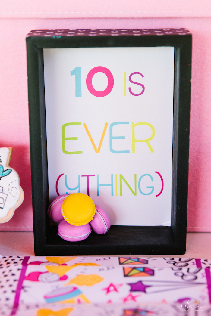 Custom '10's Everything' Print from a Modern Colorful 10th Birthday Party on Kara's Party Ideas | KarasPartyIdeas.com (6)