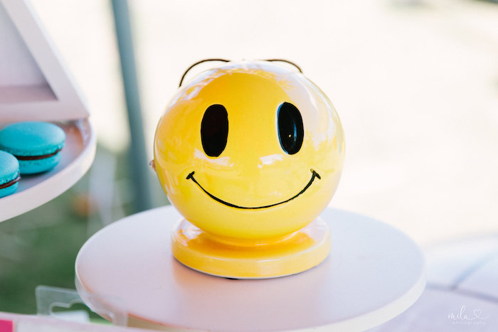 Smile Globe from a Modern Colorful 10th Birthday Party on Kara's Party Ideas | KarasPartyIdeas.com (3)