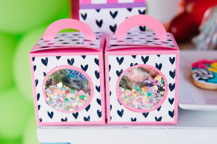 Window Favor Box from a Modern Colorful 10th Birthday Party on Kara's Party Ideas | KarasPartyIdeas.com (33)