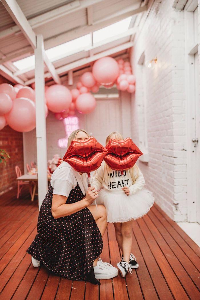 Kissy Lip Balloons from a Modern + Pink Girls Run the World Birthday Party on Kara's Party Ideas | KarasPartyIdeas.com (14)