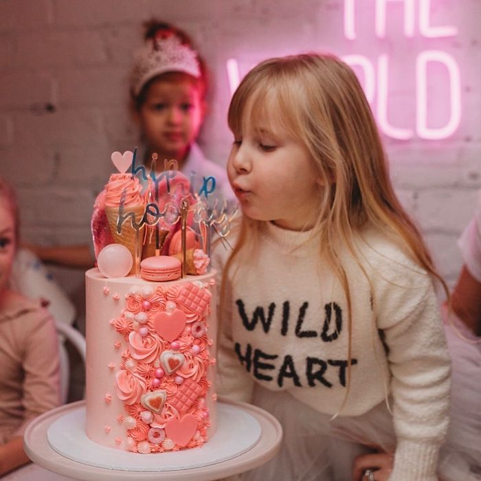 Pink Glam and Girly Cake from a Modern + Pink Girls Run the World Birthday Party on Kara's Party Ideas | KarasPartyIdeas.com (12)