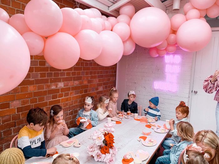 Guest Table from a Modern + Pink Girls Run the World Birthday Party on Kara's Party Ideas | KarasPartyIdeas.com (10)